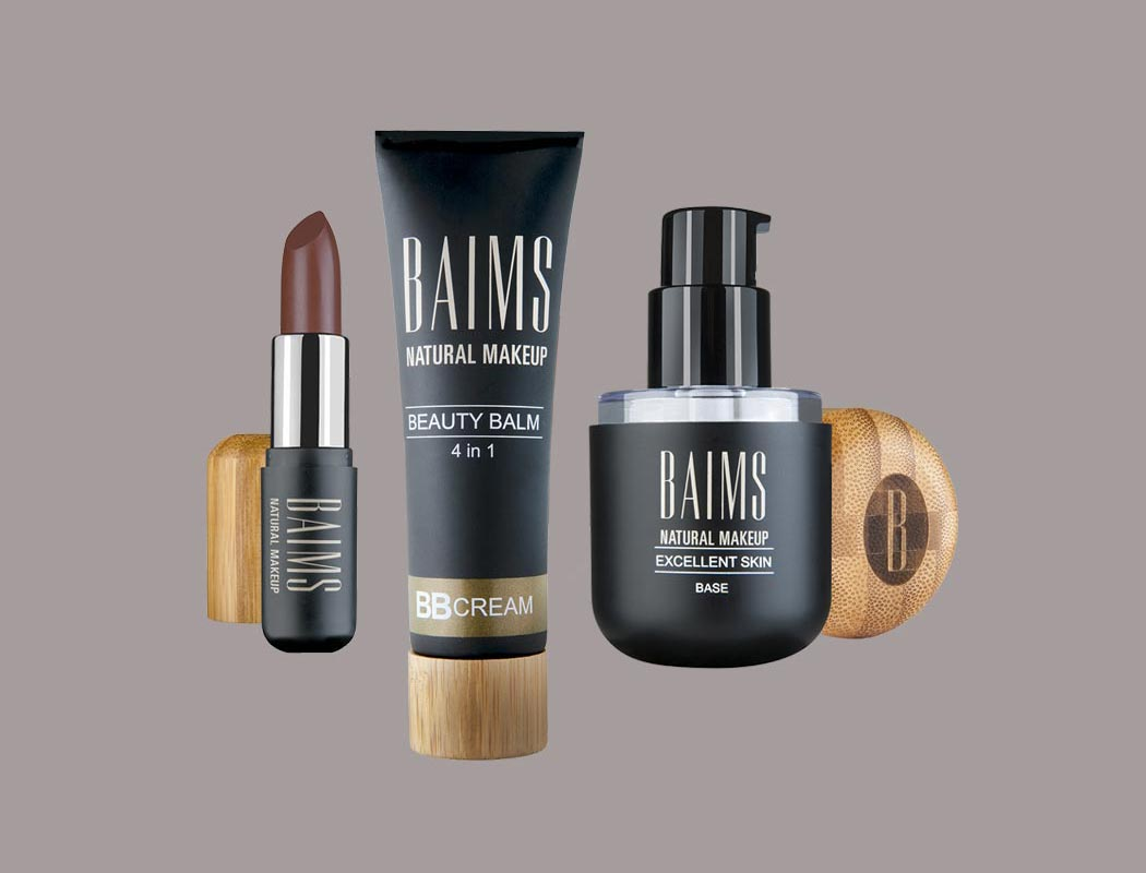 Baims Natural Makeup Branding